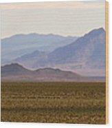 Death Valley Range Wood Print