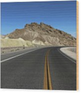 Death Valley Road Through The Badlands Wood Print