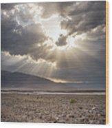Death Valley Sun Burst Wood Print