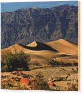 Death Valley's Mesquite Flat Sand Dunes Wood Print