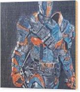 Deathstroke Illustration Art Wood Print