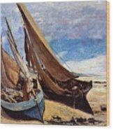Deauville Beach 1866 Wood Print