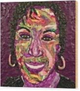 Deb A Self Portrait Wood Print