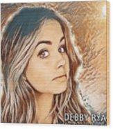 Debby Ryan Golden Beauty Wood Print