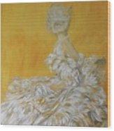 Jenny As A Debutante Wood Print