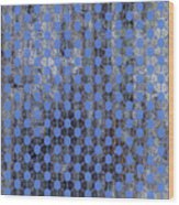 Decadent Urban Blue Patterned Abstract Design Wood Print