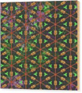 Decadent Urban Orange Green Patterned Abstract Design Wood Print
