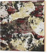 Decadent Urban Red Bricks Painted Grunge Abstract Wood Print