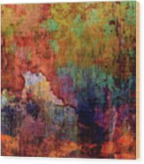 Decadent Urban Red Wall Grunge Abstract Wood Print