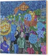 Decatur Lantern Parade Wood Print