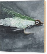 Deceiver Fishing Fly Wood Print