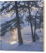 December Dawn Wood Print