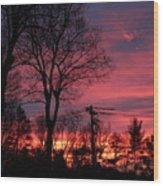 December Morning Wood Print