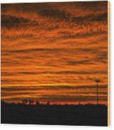 December Nebraska Sunset 002 Wood Print