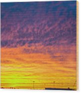 December Nebraska Sunset 003 Wood Print