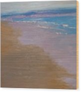 sold December Sea Shore in California Wood Print