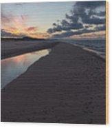 December Sunsets Wood Print