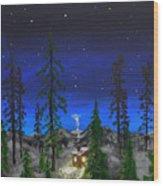 Decembers Star Wood Print