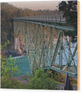 Deception Pass Bridge Br-8943 Wood Print