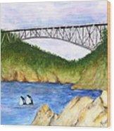 Deception Pass Bridge  Wood Print