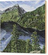 Deception Pass Painting Wood Print
