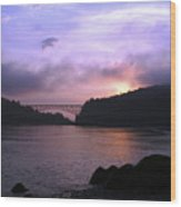 Deception Pass Sunrise Wood Print