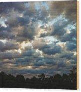 Deceptive Clouds Wood Print by Cricket Hackmann