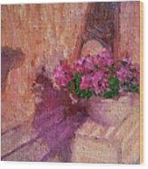 Deck Flowers #2 Wood Print