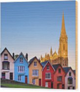 Deck Of Cards And St Colman's Cathedral, Cobh, Ireland Wood Print