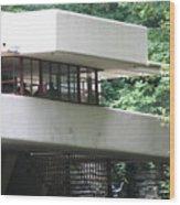 Deck View Fallingwater  Wood Print
