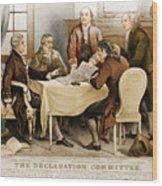 Declaration Committee 1776 Wood Print