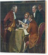 Declaration Committee Wood Print