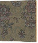 Deco Flower Brown Wood Print by JQ Licensing