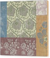 Deco Flower Patchwork 2 Wood Print by JQ Licensing