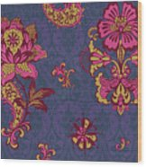Deco Flower Purple Wood Print