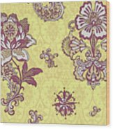 Deco Flower Yellow Wood Print