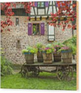 Half-timbered House, Riquewihr, Alsace,france  Wood Print