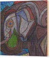 Decorated Elefant Wood Print