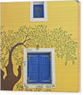 Decorated House Wood Print