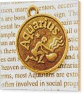 Decorative Aquarius Wood Print