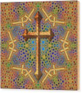 Decorative Cross Wood Print