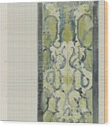 Decorative Design In Green And Blue, Carel Adolph Lion Cachet, 1874 - 1945 Wood Print