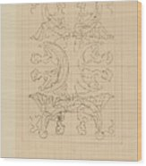 Decorative Design With Eight Seated Women, Carel Adolph Lion Cachet, 1874 - 1945 Wood Print