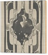 Decorative Design With Four Coats Of Arms, Carel Adolph Lion Cachet, 1874 - 1945 Wood Print