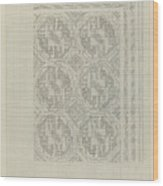 Decorative Design With Geometric Motif, Carel Adolph Lion Cachet, 1874 - 1945 Wood Print