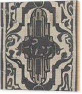 Decorative Design With Two Stylized Lions, Carel Adolph Lion Cachet, 1874 - 1945 Wood Print