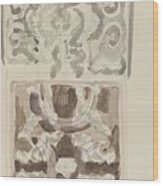 Decorative Designs With Seated Figures, Carel Adolph Lion Cachet, 1874 - 1945 Wood Print