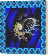 Decorative Fractal Tile 3 Wood Print