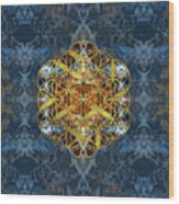Decorative Gemstone Sacred Geometry Flower Of Life   Wood Print