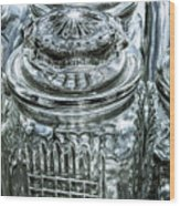 Decorative Glass Jars Wood Print